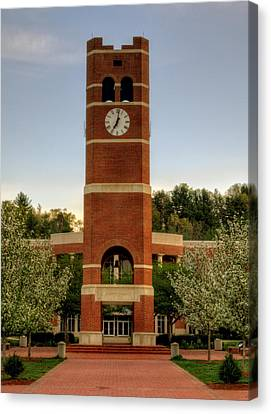 Alumni Clock Tower At Wcu Canvas Print by Greg Mimbs