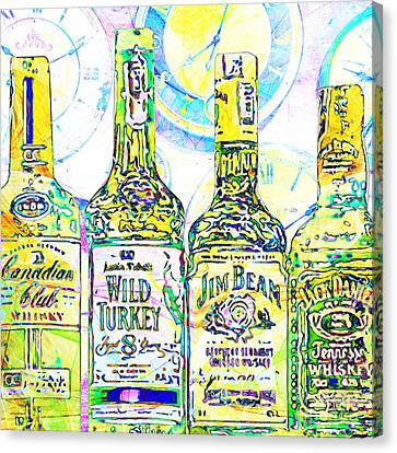 Always Carry A Bottle Of Whiskey In Case Of Snakebite 20140917 V2 Square Canvas Print by Wingsdomain Art and Photography