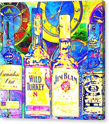 Always Carry A Bottle Of Whiskey In Case Of Snakebite 20140917 V3 Square Canvas Print by Wingsdomain Art and Photography