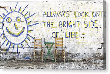 Always Look On The Bright Side Of Life Canvas Print by Tom Gowanlock