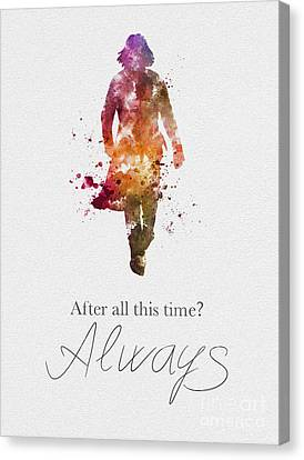Always Black And White Canvas Print by Rebecca Jenkins