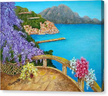 Amalfi Coast Canvas Print by Pamela Allegretto