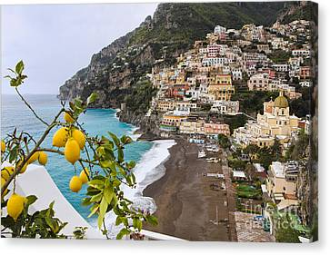 Amalfi Coast Town Canvas Print by George Oze