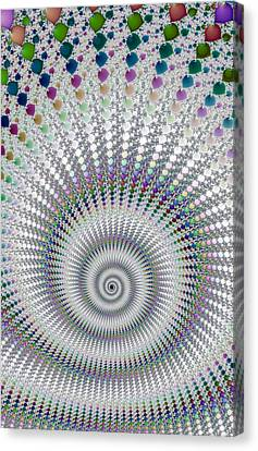 Amazing Fractal Spiral With Great Depth Canvas Print by Matthias Hauser