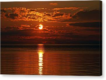 Amazing Sunset Canvas Print by Aimee L Maher Photography and Art Visit ALMGallerydotcom