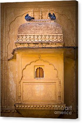 Amber Fort Birdhouse Canvas Print by Inge Johnsson