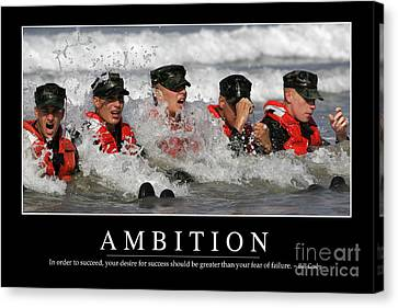 Ambition Inspirational Quote Canvas Print by Stocktrek Images