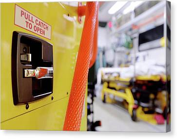Ambulance Door Canvas Print by Mcs