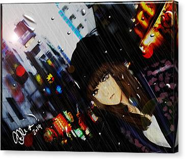 Ame Canvas Print by Elle L