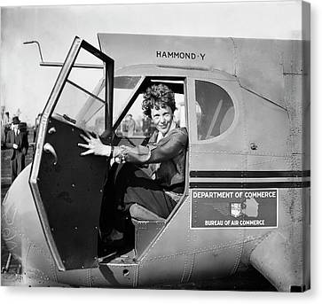 Amelia Earhart Canvas Print by Library Of Congress