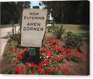 Amen Corner - A Golfers Dream Canvas Print by Ella Kaye Dickey
