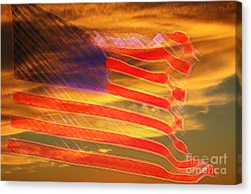 America Distress Canvas Print by Beverly Guilliams