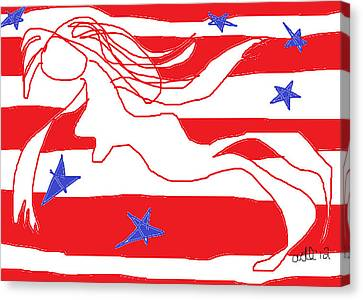 America Free Falling  Canvas Print by Anita Dale Livaditis