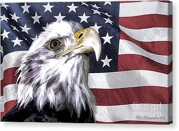 America Canvas Print by Linda Blair