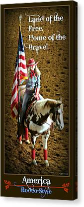 America -- Rodeo-style Canvas Print by Stephen Stookey
