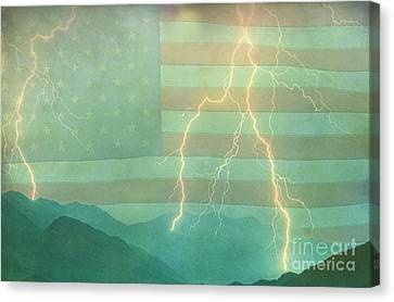 America Walk The Line  Canvas Print by James BO  Insogna