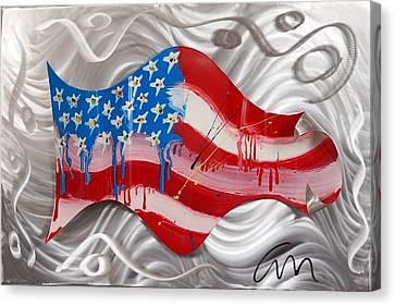 America Wave - Edition 3 Canvas Print by Mac Worthington