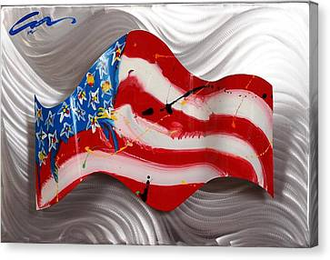 America Wave Canvas Print by Mac Worthington