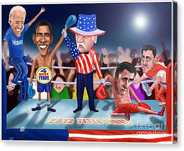 America Wins Canvas Print by Fred Makubuya