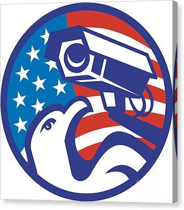 American Bald Eagle Security Camera Canvas Print by Aloysius Patrimonio