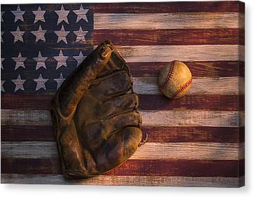 American Baseball Canvas Print by Garry Gay