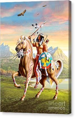 American Brave Canvas Print by Adrian Cherterman