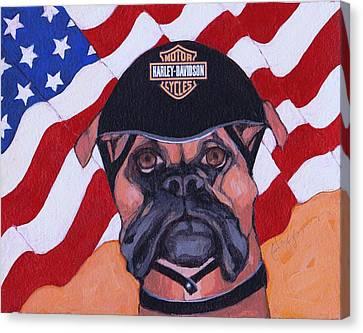 American Dawg Canvas Print by Christina Hoffman