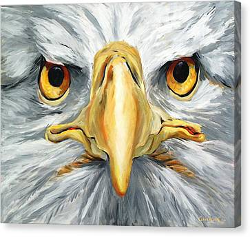 American Eagle - Bald Eagle By Betty Cummings Canvas Print by Sharon Cummings