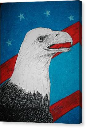 American Eagle Canvas Print by Maricay Smeenk