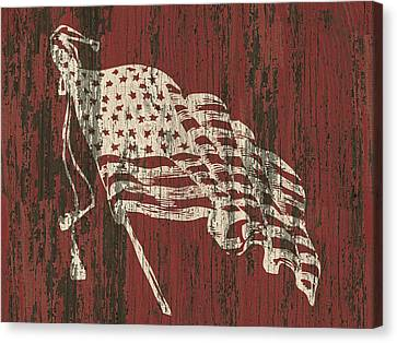 American Flag Barn Canvas Print by Flo Karp