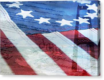 American Flag Canvas Print by Christina Rollo