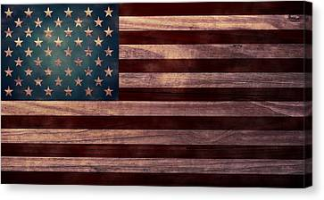 American Flag I Canvas Print by April Moen