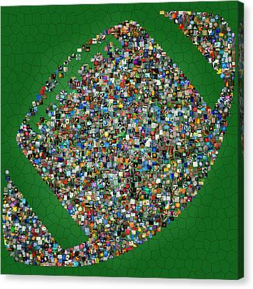 American Football Mosaic Canvas Print by Yury Malkov