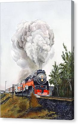 American  Freedom  Train #4449 Canvas Print by Jeannine Marx Fruci