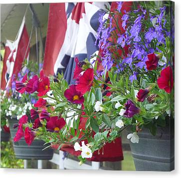 American Front Porch Canvas Print by Heather Allen