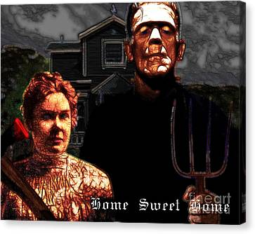 American Gothic Resurrection Home Sweet Home 20130715 Canvas Print by Wingsdomain Art and Photography