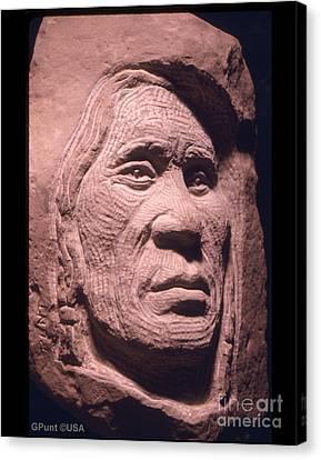 American-indian-portrait-1 Canvas Print by Gordon Punt