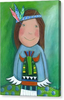 American Indian Canvas Print by Sonja Mengkowski