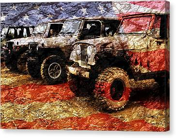 American Jeeps Canvas Print by Luke Moore