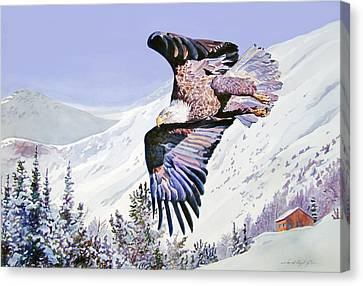 American Majesty  Canvas Print by David Lloyd Glover