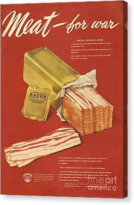 American Meat Institute 1950s Usa Bacon Canvas Print by The Advertising Archives