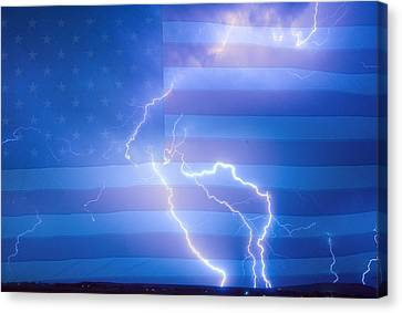 American Mother Nature's Fireworks  Canvas Print by James BO  Insogna