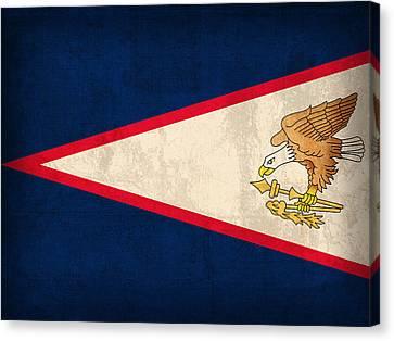 American Samoa Flag Vintage Distressed Finish Canvas Print by Design Turnpike