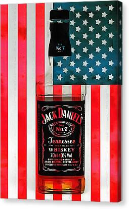 American Whiskey Jack Daniels Canvas Print by Dan Sproul