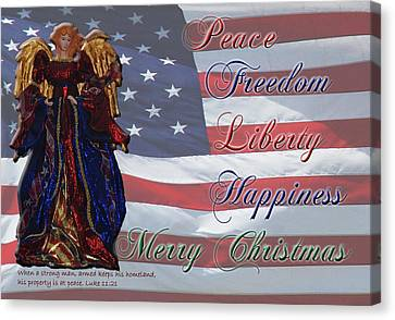 Americana Military Christmas 1 Canvas Print by Robyn Stacey