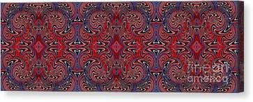 Americana Swirl Banner 1 Canvas Print by Sarah Loft