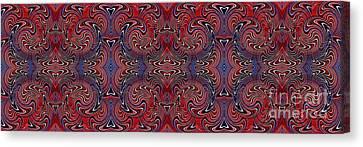 Americana Swirl Banner 3 Canvas Print by Sarah Loft