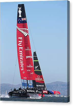 America's Cup Emirates Team New Zealand Canvas Print by Steven Lapkin