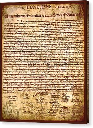 America's Declaration Of Independence  Canvas Print by Li   van Saathoff