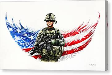 Americas Guardian Angel Canvas Print by Andrew Read